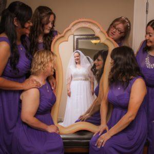 Admiring the bride