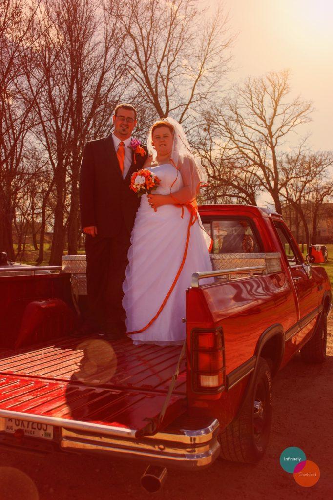 Pickup truck wedding
