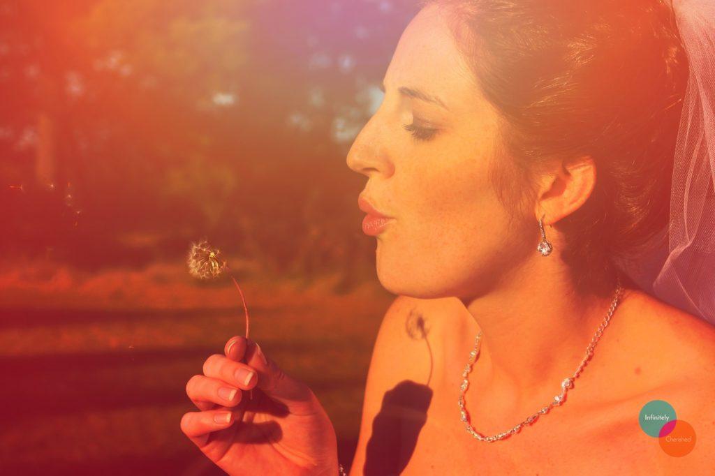 Blowing dandelion